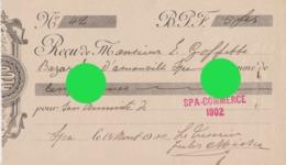 SPA COMMERCE 1902  Reçu Pour La Cotisation Annuelle - Old Paper