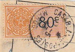 Maroc. Protectorat Français. Timbre Quittance. Fiscal. 80c. Sur Fragment De Papier. Cachet Postal 1943. - Sonstige