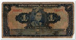 NICARAGUA,1 CORDOBA,1941,P.90a,GOOD - Nicaragua