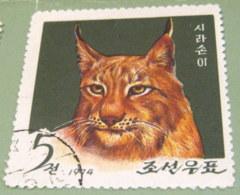 North Korea 1974 Lynx Lynx 5 Ch - Used - Corea Del Nord