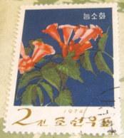 North Korea 1974 Flowers Campsis Grandiflora  2 Ch - Used - Corea Del Nord