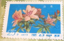North Korea 1975 Rhododendrons 25 Ch - Used - Corea Del Nord