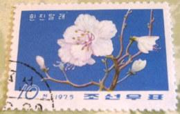 North Korea 1975 Rhododendrons 10 Ch - Used - Corea Del Nord