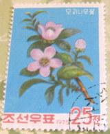 North Korea 1975 Flowering Trees 25 Ch - Used - Corea Del Nord
