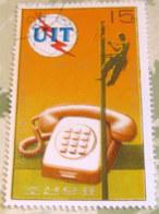 North Korea 1976 The 100th Anniversary Of The Telephone 15 Ch - Used - Corea Del Nord