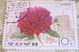 North Korea 1976 Flowers 10 Ch - Used - Corea Del Nord
