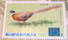 North Korea 1976 Pheasants Syrmaticus Reevesii 15 Ch - Used - Corea Del Nord