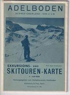 OUDE SKITOUREN KARTE - WINTERSPORT - SKI - ADELBODEN - PHOTO GYGER  - 12 X 16,5 CM - MAP - Sport Invernali