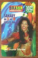 83 SANARY SUR MER COD CARTE BRASIL FESTIVAL EXP LE 31/03/2000 PRÉPAYÉE PREPAID PHONE CARD - Frankreich