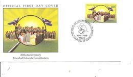 Drapeaux  ( FDC De Marshall De 1999 à Voir) - Buste