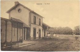 27 - LIEUREY - La Gare. Mention Au Verso : Ligne De Cormeilles à Glos Monfort Et Extensions. BE. - France