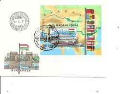 Drapeaux  ( FDC De Hongrie De 1981 à Voir) - Covers