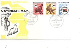 Drapeaux  ( FDC De Papouasie De 1972 à Voir) - Covers