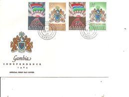 Drapeaux  ( FDC De Gambie De 1965 à Voir) - Covers