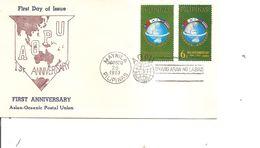 Drapeaux  ( FDC Des Philippines De 1963 à Voir) - Covers