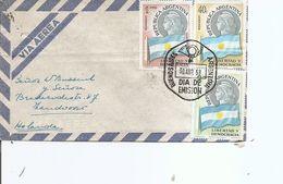 Drapeaux  ( Lettre Par Avion D'Argentine De 1958 De BuenosAires Vers Les Pays-Bas à Voir) - Covers
