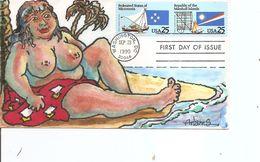 Drapeaux  ( FDc Combiné De Micronésie Et Marshall De 1990 à Voir) - Covers