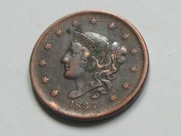 1 Cent 1837 Coronet Cent - United States Of AMERICA - Etats-unis - USA  **** EN ACHAT IMMEDIAT  **** - Federal Issues