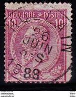 N° 46 . OBL.CENTRALE  HOLLAIN - 1884-1891 Léopold II