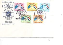 Drapeaux ( FDC Du Paraguay De 1964 à Voir) - Covers