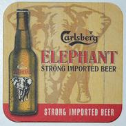 Sous-bock CARLSBERG ELEPHANT Strong Imported Beer Bierdeckel Bierviltje Coaster (CX) - Beer Mats