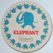 Sous-bock CARLSBERG ELEPHANT Bierdeckel Bierviltje Coaster (CX) - Beer Mats