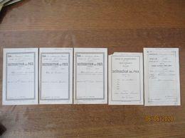 ECOLE DE LOUVIGNIES-BAVAY DIRIGEE PAR Mme JOUVENEAU DISTRIBUTION DES PRIX 6 AOUT 1905,6 AOUT 1911,11 AOUT 1912 A CACHEUX - Diploma & School Reports