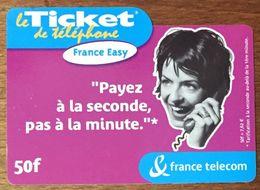 FRANCE EASY TICKET TÉLÉPHONE 50 FRANCS EXP LE 31/05/2003 PRÉPAYÉE PREPAID CARTE TÉLÉPHONIQUE À CODE - Frankreich
