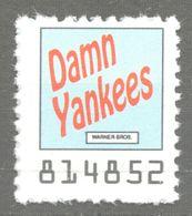 Damn Yankees Musical Comedy Music LP Vinyl Voucher Coupon LABEL CINDERELLA VIGNETTE 1990 USA Warner - Music