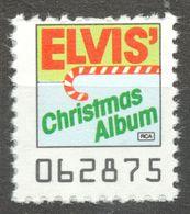 Elvis Presley Singer Pop Rock CHRISTMAS Album LP Vinyl Voucher Coupon LABEL CINDERELLA VIGNETTE 1990 USA RCA - Music