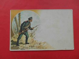 Army 1900-th Soldier With A Rifle. Russian Postcard - Rusland