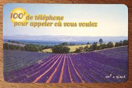 LAVANDE TICKET TÉLÉPHONE 100 FRANCS EXP LE 30/12/2000 PRÉPAYÉE PREPAID CARTE TÉLÉPHONIQUE À CODE - Frankreich