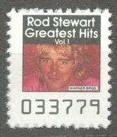 Rod Stewart Pop Rock Album LP Vinyl Voucher Coupon LABEL CINDERELLA VIGNETTE 1990 USA Warner - Music