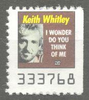 Keith Whitley Pop Country Album LP Vinyl Voucher Coupon LABEL CINDERELLA VIGNETTE 1990 USA RCA - Music