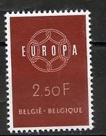 Europa CEPT 1959 Belgique - Belgium - Belgien Y&T N°1111 - Michel N°1164 *** - 2,50f EUROPA - 1959
