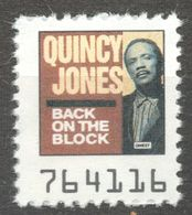Quincy Jones Pop Rock Album LP Vinyl Voucher Coupon LABEL CINDERELLA VIGNETTE 1990 USA Owest - Music