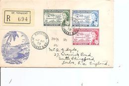 Saint-Vincent ( FDC De 1958 Voyagé En Recommandé Vers La Grande-Bretagne à Voir) - St.Vincent (1979-...)