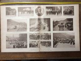 1906 ILL COUPE AUTOMOBILE DES PYRENEES SOREL MAS AZIL LUCHON VILLA EDMOND ROSTAND CAMBO LES BAINS - Collections