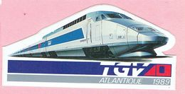 Sticker - TGV - ATLANTIQUE - 1989 - Stickers