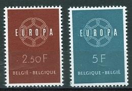Europa CEPT 1959 Belgique - Belgium - Belgien Y&T N°1111 à 1112 - Michel N°1164 à 1165 *** - 1959