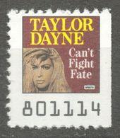 Taylor Dayne Singer Actress Pop Rock Album LP Vinyl Voucher Coupon LABEL CINDERELLA VIGNETTE 1990 USA Arista - Music