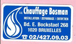 Sticker - Chauffage Bosman - Bd. E. Bockstael BRUXELLES - Stickers