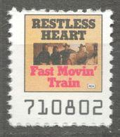 Fast Movin' Train - Restless Heart COUNTRY  Album LP Vinyl Voucher Coupon LABEL CINDERELLA VIGNETTE 1990 USA - Music