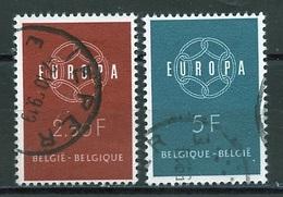 Europa CEPT 1959 Belgique - Belgium - Belgien Y&T N°1111 à 1112 - Michel N°1164 à 1165 (o) - 1959