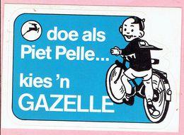 Sticker - Doe Als Piet Pelle...kies 'n GAZELLE - Fiets - Stickers