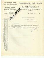 88 - Vosges - Charmes - Facture Bernard Gerdolle - Commerce De Bois  - 1939 -Réf.42 - - France