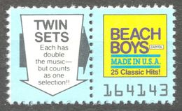 BEACH BOYS Hits Pop Rock Album LP Vinyl Voucher Coupon LABEL CINDERELLA VIGNETTE 1990 Capitol - Music