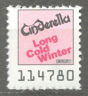CINDERELLA Pop Rock Group Album LP Vinyl Voucher Coupon LABEL CINDERELLA VIGNETTE 1990 USA Mercury LONG COLD Winter - Cinderellas