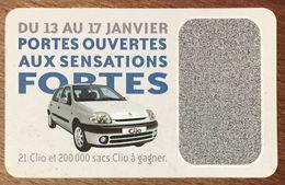 RENAULT CLIO CARTE DE JEU POUR COLLECTIONNEUR - Automobilismo - F1