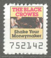 BLACK CROWES Pop Rock Album LP Vinyl Voucher Coupon LABEL CINDERELLA VIGNETTE 1990 USA Geffen  Shake Your Money Maker - Music